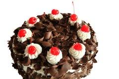 黑色蛋糕森林部分 免版税库存图片