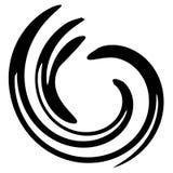 黑色螺旋漩涡swooshes 皇族释放例证