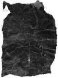 黑色被弄皱的纸张 免版税库存照片