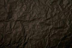 黑色被弄皱的纸纹理 免版税库存照片