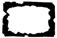 黑色被烧的框架纸张 库存图片