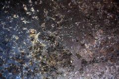 黑色被腐蚀的金属 免版税库存照片
