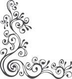 黑色装饰品白色 皇族释放例证