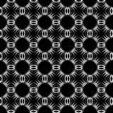 黑色装饰模式无缝的白色 库存照片