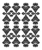 黑色装饰花卉模式 免版税库存图片