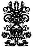 黑色装饰花卉模式 库存照片
