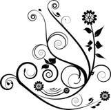 黑色装饰设计 库存例证