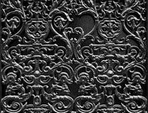 黑色装饰门 免版税库存照片