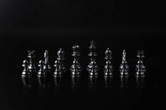 黑色西洋棋棋子 库存照片