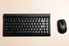 黑色计算机设备 免版税库存图片