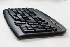 黑色计算机键盘无线 免版税库存图片