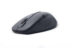 黑色计算机鼠标无线 免版税库存照片