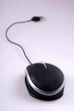 黑色计算机鼠标 免版税库存图片