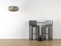 黑色设计内部凳子 库存照片