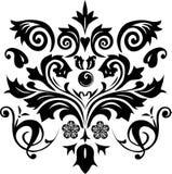 黑色设计叶子 免版税图库摄影