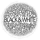 黑色设计白色 库存例证