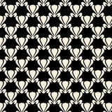 黑色设计莲花模式工厂重复白色 免版税图库摄影