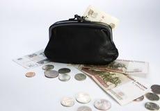 黑色货币钱包 库存照片