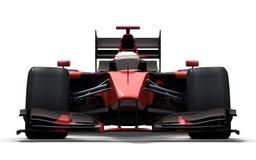 黑色赛车红色 库存例证