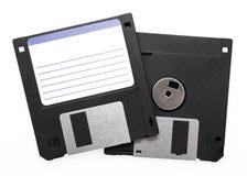 黑色软盘 免版税库存图片