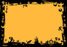 黑色边界万圣节 免版税图库摄影