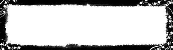 黑色边界文本白色 免版税库存图片