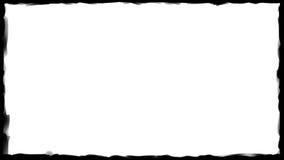 黑色边界框架-画笔冲程04 免版税库存照片