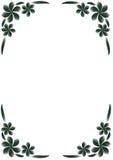 黑色边界花卉白色 免版税库存照片