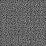 黑色迷宫白色 库存例证