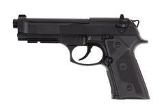 黑色金属手枪触发器 库存图片