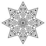 黑色金银细丝工的星形 库存图片