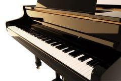 黑色钢琴 免版税库存照片