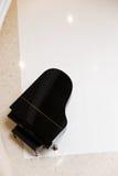 黑色钢琴 库存照片