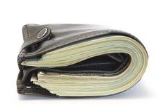 黑色钱包 免版税库存图片