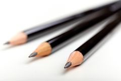 黑色铅笔 库存图片
