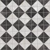黑色铺磁砖白色 免版税库存照片