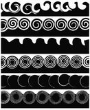 黑色镶边白色 库存照片