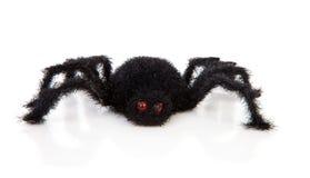 黑色长毛的可怕蜘蛛玩具 免版税库存图片