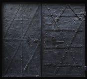 黑色门哥特式铁 免版税库存图片