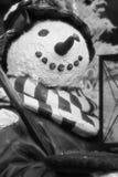 黑色雪人白色 免版税库存照片