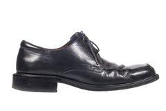 黑色鞋子使用了 免版税库存照片