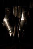 黑色鞋子 免版税库存图片