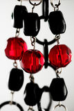 黑色项链红色 免版税库存图片