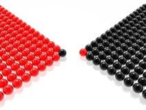 黑色领导先锋管理红色 向量例证