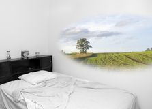 黑色颜色梦想混杂的时间白色 免版税库存图片