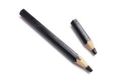 黑色颜色铅笔 库存照片