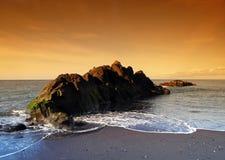 黑色马德拉岛沙子 免版税库存图片