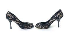 黑色高跟鞋鞋子 库存照片