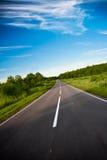 黑色高速公路路 免版税库存图片
