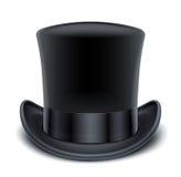 黑色高顶丝质礼帽 库存照片